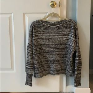 White and Black Wool Sweater
